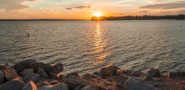 Lake Murray sun set