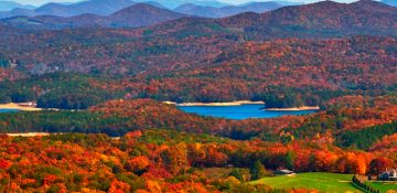 Scenic Blue Ridge Mountains view