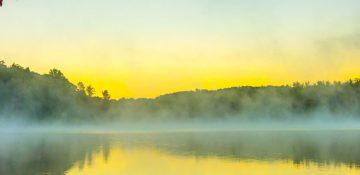 Boone NC lake at Grandfather Mountain
