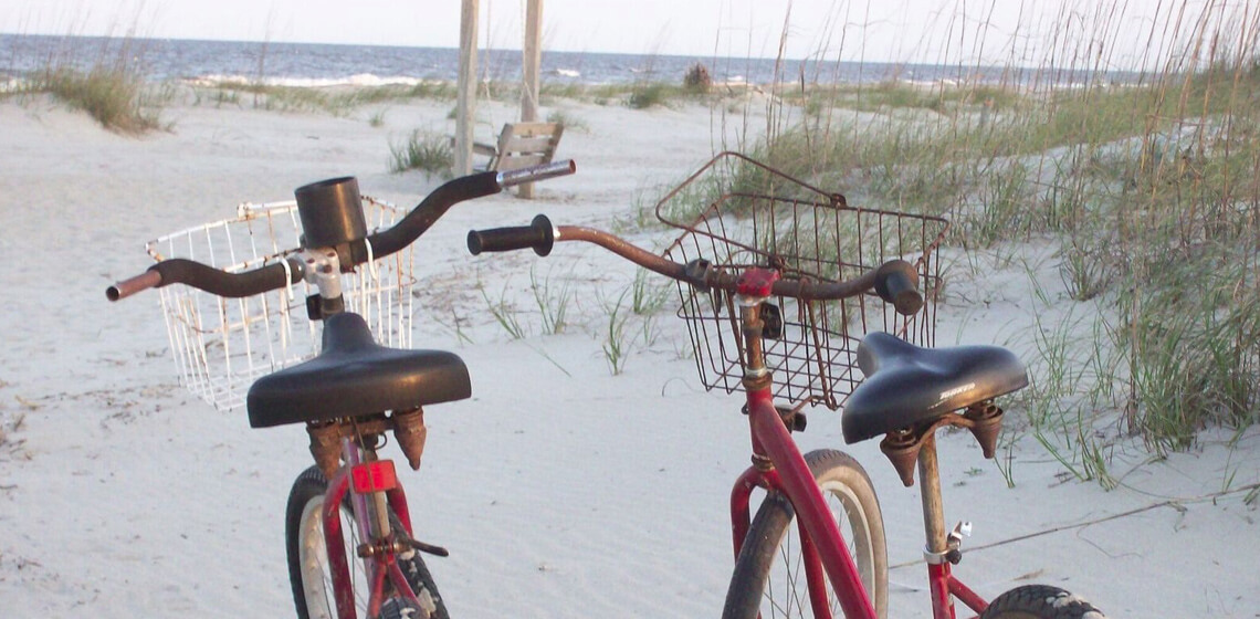 Bikes on Tybee Island in Savannah GA