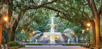 Savannah GA Forsyth Park Fountain